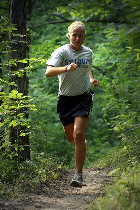 jogger on the trail